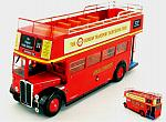 AEC Regent RT Red London Transport Bus 1950  open top by IXO MODELS