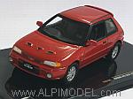 Mazda 323 GTR 1991 (Red) by IXO MODELS