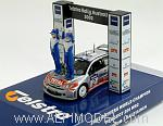 Peugeot 206 WRC Telstra Rally Australia World Champion 2002 Gronholm - Rautiainen (with 2 figures) by IXO MODELS
