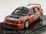 Mitsubishi Lancer WRC #63 Rally Sweden 2006 Carlsson - Holmstrad by IXO MODELS