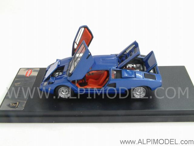 Kyosho Lamborghini Countach Lp400 Blue Metallic With Opening Parts Designed By Mr Collection