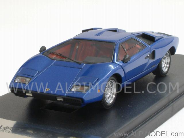 kyosho lamborghini countach lp400 blue metallic with. Black Bedroom Furniture Sets. Home Design Ideas
