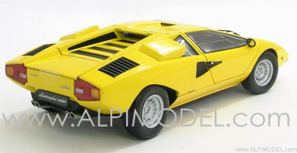 kyosho lamborghini countach lp400 yellow 1 18 scale model. Black Bedroom Furniture Sets. Home Design Ideas
