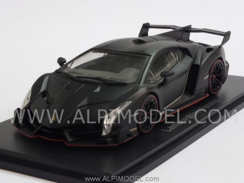 Kyosho Lamborghini Veneno 2013 Matt Black 1 43 Scale Model