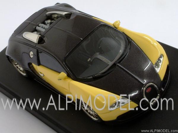 looksmart bugatti veyron study 2003 yellow black 1 43 scale model. Black Bedroom Furniture Sets. Home Design Ideas