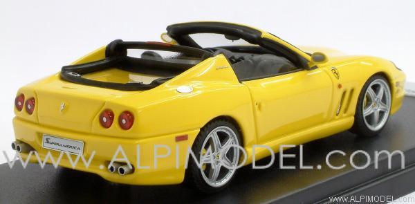 LOOKSMART Ferrari SuperAmerica 2004 Open Roof (Yellow) (1/43 scale ...