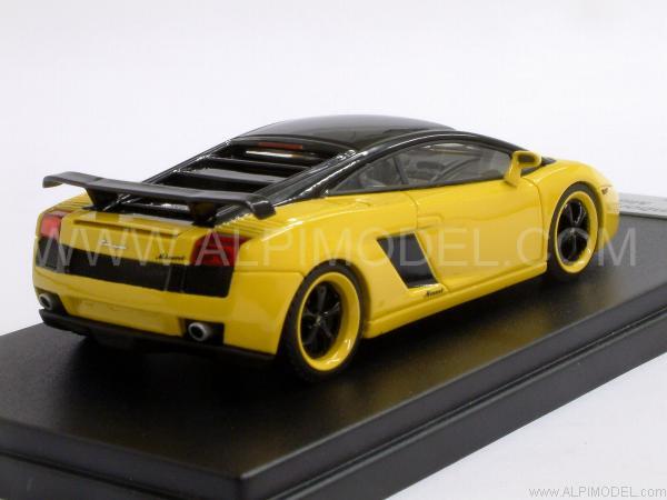 Black and Yellow Lamborghini Gallardo