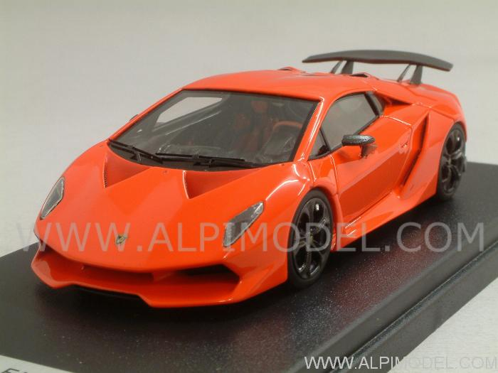 Looksmart Lamborghini Sesto Elemento Orange Fluo 1 43 Scale Model