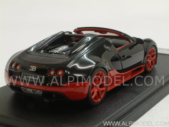 looksmart bugatti veyron 16 4 vitesse grand sport geneve motorshow 2012 black red 1 43 scale. Black Bedroom Furniture Sets. Home Design Ideas