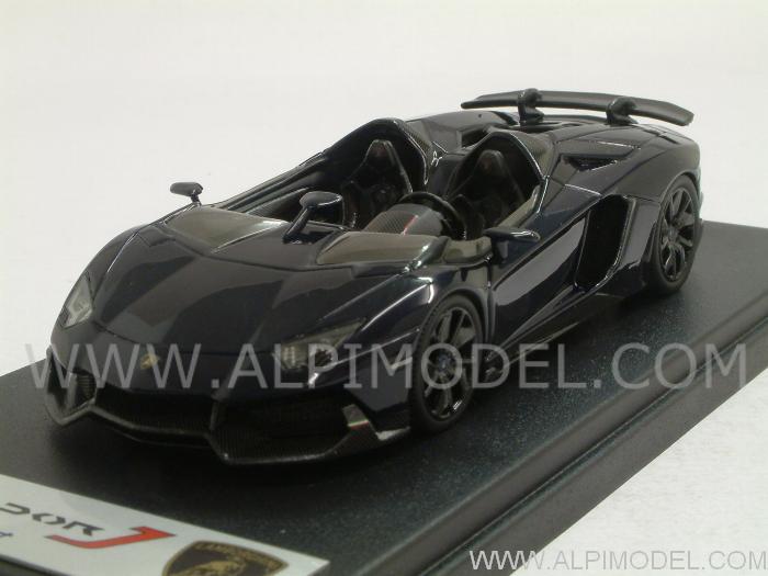 Blue Lamborghini Aventador J