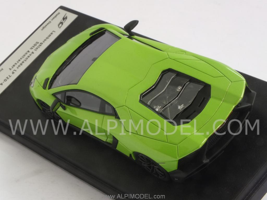 Green Lamborghini Aventador 50th Anniversary