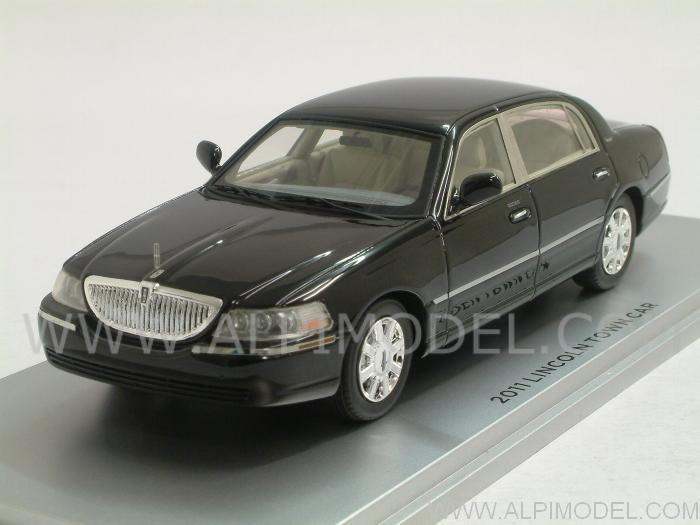 Luxury Lincoln Town Car 2011 Black 1 43 Scale Model