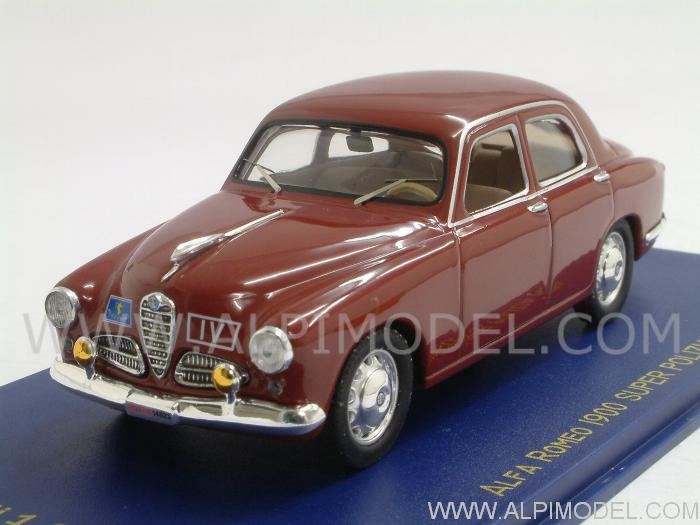 M4 Alfa Romeo 1900 Super Polizia 1950 1 43 Scale Model