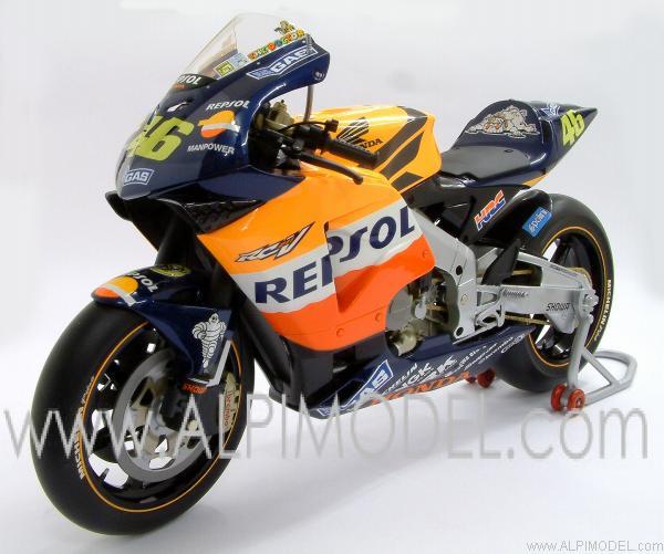minichamps Honda RC211V 990cc Team Honda Repsol WORLD CHAMPION MOTOGP 2002 Valentino Rossi (1/6 ...