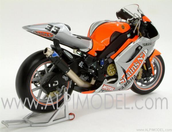 minichamps Yamaha YZR-M1 Fortuna Yamaha Team MotoGP 2003 - Marco Melandri (1/12 scale model)