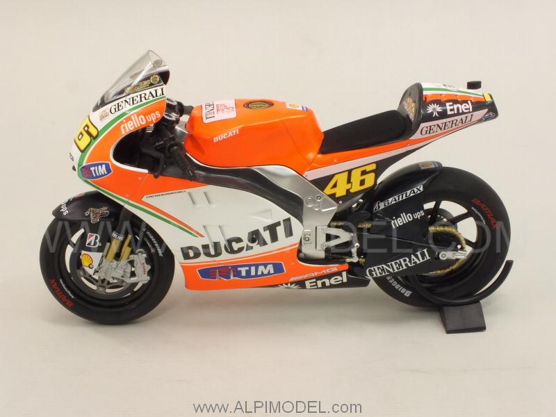 minichamps Ducati Desmosedici GP12 MotoGP 2012 Valentino Rossi (1/12 scale model)