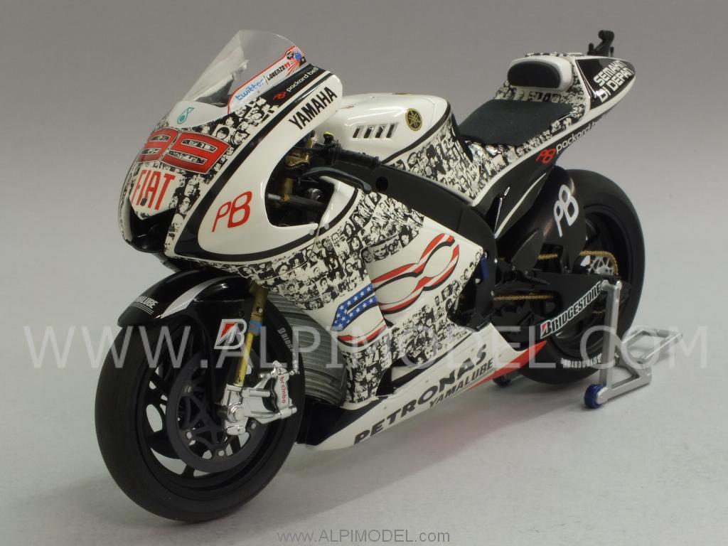 minichamps Yamaha YZR-M1 MotoGP 2010 Laguna Seca - Jorge Lorenzo (Limited Edition 999pcs.) (1/12 ...