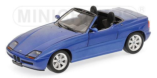 minichamps bmw z1 1991 blue metallic 1 18 scale model. Black Bedroom Furniture Sets. Home Design Ideas