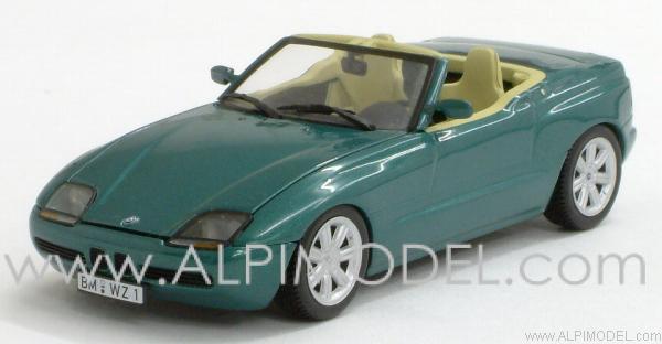 minichamps bmw z1 1991 green metallic 1 43 scale model. Black Bedroom Furniture Sets. Home Design Ideas