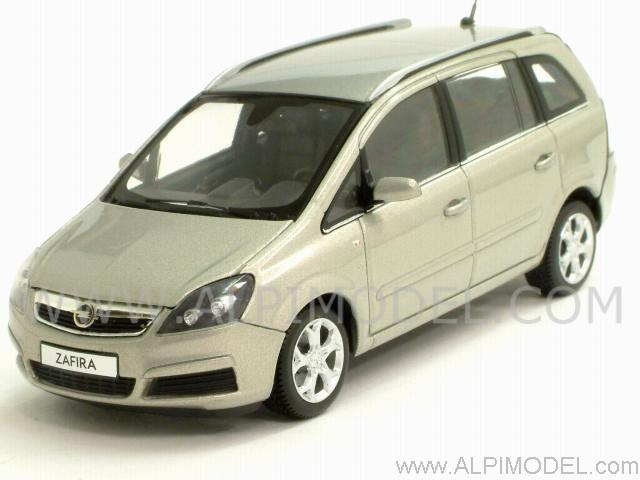 minichamps opel zafira 2006 silver 1 43 scale model. Black Bedroom Furniture Sets. Home Design Ideas