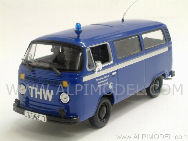 minichamps volkswagen t2 bus 1979 thw berlin 1 43 scale. Black Bedroom Furniture Sets. Home Design Ideas