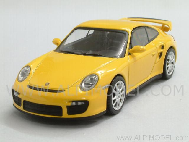 minichamps porsche 911 gt2 2007 yellow 1 43 scale model. Black Bedroom Furniture Sets. Home Design Ideas