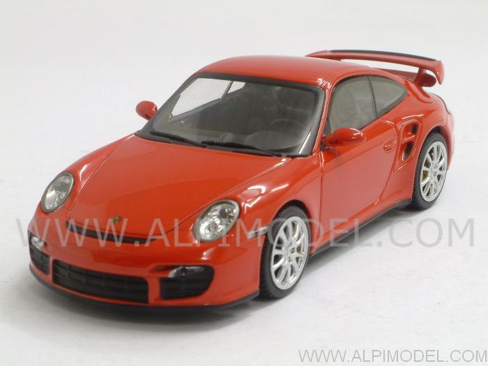 minichamps porsche 911 gt2 997 2007 indian red 1 43. Black Bedroom Furniture Sets. Home Design Ideas