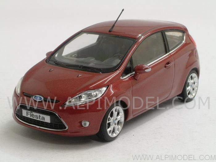 minichamps ford fiesta 2008 hot magenta metallic 1 43 scale model. Black Bedroom Furniture Sets. Home Design Ideas