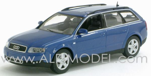 Minichamps Audi A4 Avant 2002 Denim Blue Pearl Effect 1