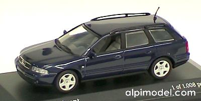 Minichamps Audi A4 Avant 1999 Blue Metal Limited Edition
