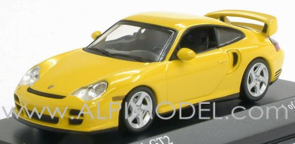 minichamps porsche 911 gt2 coupe 39 2001 speed yellow 1 43 scale model. Black Bedroom Furniture Sets. Home Design Ideas