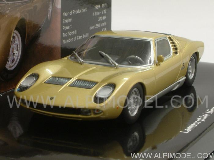 Minichamps Lamborghini Miura P400s 1968 Gold Lamborghini Museum