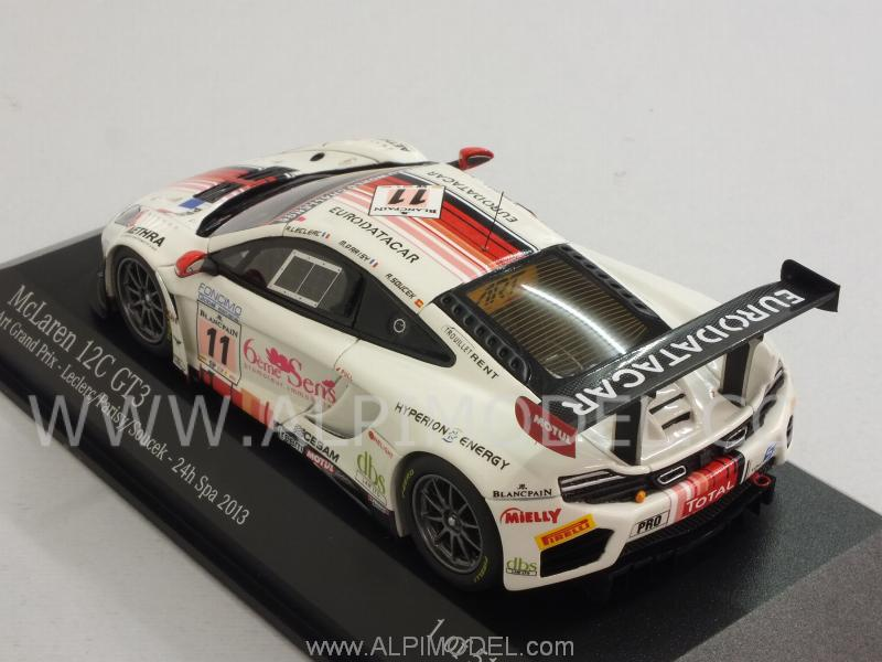 minichamps mclaren mp4 12c gt3 art grand prix 24h spa 2013 leclerc parisy soucek 1 43 scale. Black Bedroom Furniture Sets. Home Design Ideas
