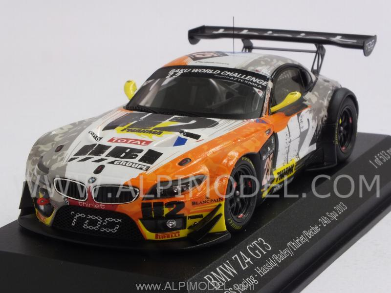 Minichamps Bmw Z4 Gt3 Tds Racing 25 Spa 2013 Hassid