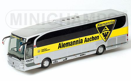 minichamps mercedes travego bus alemannia aachen 1 43 scale model. Black Bedroom Furniture Sets. Home Design Ideas