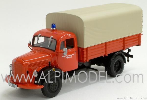 minichamps mercedes l3500 canvas truck fire service regensburg 1 43 scale model. Black Bedroom Furniture Sets. Home Design Ideas