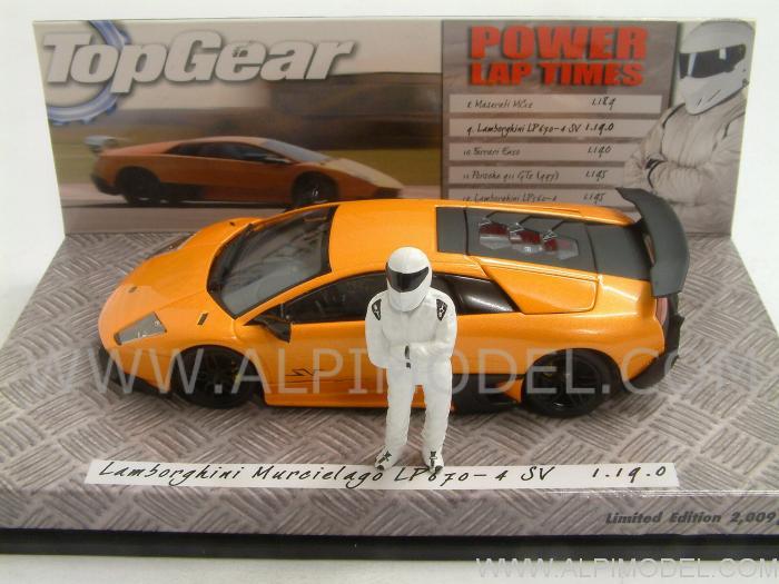 Minichamps Lamborghini Murcielago Lp670 4 Sv 2009 Top Gear The Stig 1 43 Scale Model