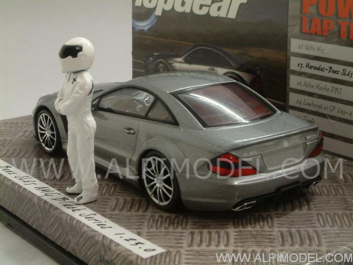 Minichamps Mercedes Sl65 Amg 2009 Black Series Top Gear With The Stig Figurine 1 43 Scale