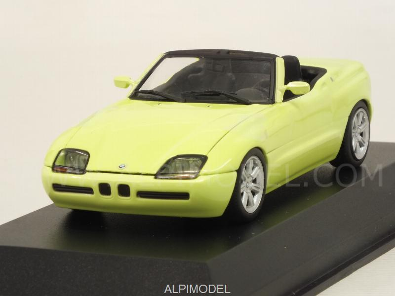 minichamps bmw z1 e30 1991 yellow 39 maxichamps 39 edition 1 43 scale model. Black Bedroom Furniture Sets. Home Design Ideas