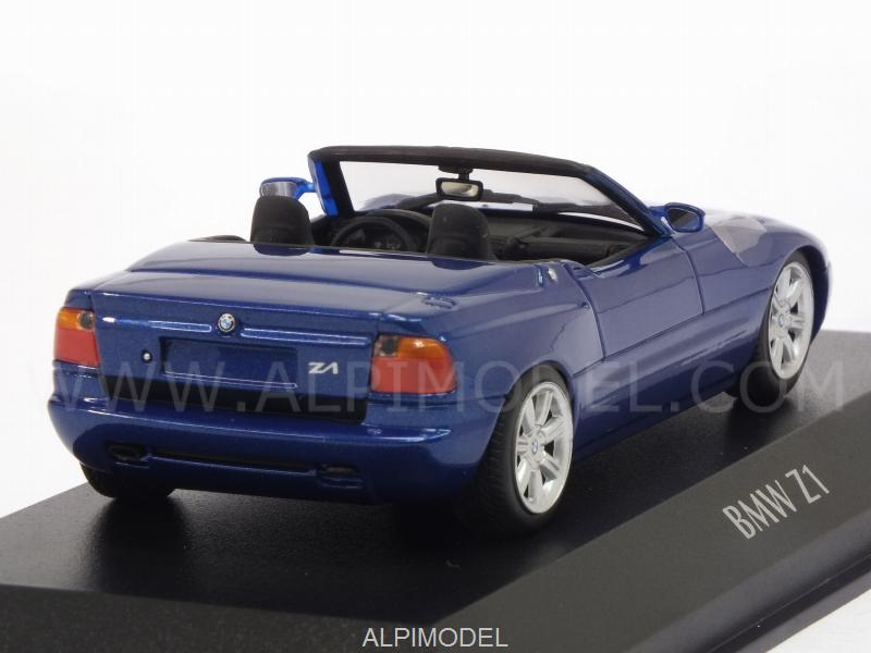 minichamps bmw z1 e30 1991 metallic blue 39 maxichamps 39 edition 1 43 scale model. Black Bedroom Furniture Sets. Home Design Ideas