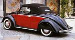 Volkswagen 1200 Cabriolet Hebmueller 1949  (Black/Red) by MINICHAMPS