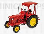 Trattore Agricolo Hanomag R35 Farm Tractor With Roof 1955 Red by MINICHAMPS