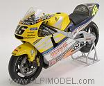 Honda NSR500 Team Nastro Azzurro GP Le Mans World Champion 2001 Valentino Rossi by MINICHAMPS
