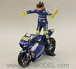 Yamaha YZR-M1 GP Donington World Champion MotoGP 2005 Valentino Rossi (with figure) by MINICHAMPS
