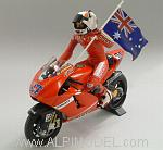 Ducati Desmosedici GP7 World Champion GP Australia 2007 Casey Stoner (with figure) by MINICHAMPS