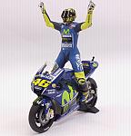 Yamaha YZR-M1 Movistar Winner Assen MotoGP 2017 Valentino Rossi (with figurine) by MIN