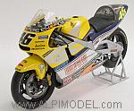 Honda NSR500 Team Nastro Azzurro 2001 World Champion Valentino Rossi - Special Edition 'Silver Box' by MINICHAMPS