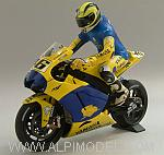 Yamaha YZR-M1 Winner Sachsenring Germany 2006 Dirty Version +FIGURE VALENTINO ROSSI LIM.ED.672 pcs. by MINICHAMPS