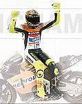 Valentino Rossi figure sitting 2002 World Champion MotoGP 2002 by MINICHAMPS