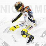 Valentino Rossi figure riding Valencia MotoGP 2003 by MINICHAMPS